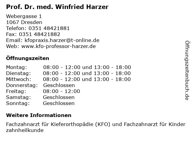 Prof. Dr. med. Winfried Harzer in Dresden: Adresse und Öffnungszeiten