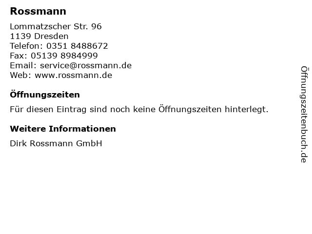 Dirk Rossmann GmbH in Dresden: Adresse und Öffnungszeiten