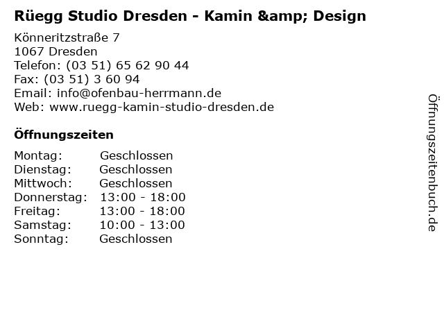Rüegg Studio Dresden - Kamin & Design in Dresden: Adresse und Öffnungszeiten