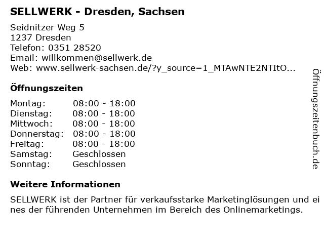 SELLWERK - Telefonbuch-Verlag Sachsen GmbH & Co. KG in Dresden: Adresse und Öffnungszeiten