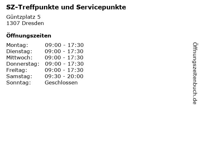 SZ-Treffpunkte und Servicepunkte in Dresden: Adresse und Öffnungszeiten