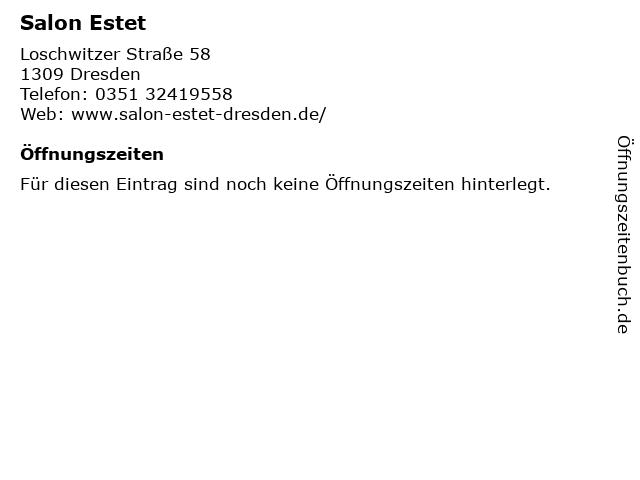 Salon Estet in Dresden: Adresse und Öffnungszeiten