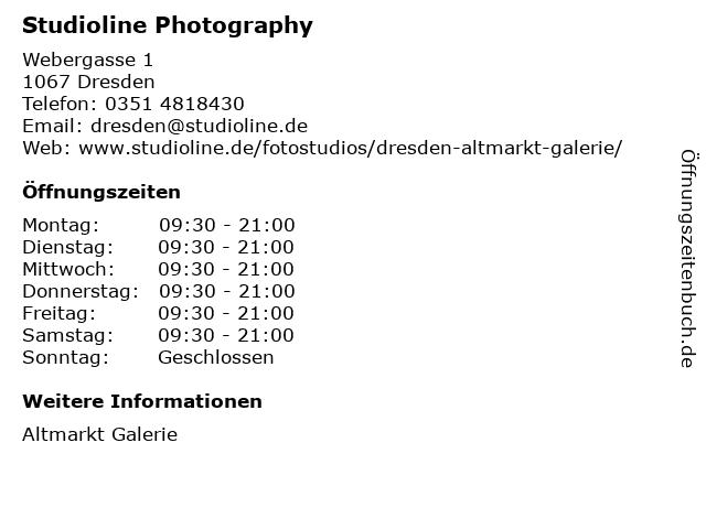 Studioline Photography in Dresden: Adresse und Öffnungszeiten