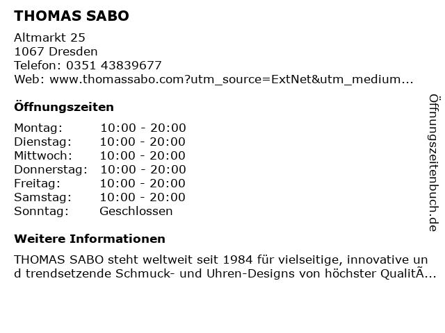 Thomas Sabo in Dresden: Adresse und Öffnungszeiten