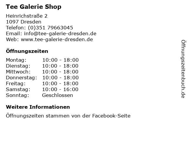 Tee Galerie Shop in Dresden: Adresse und Öffnungszeiten