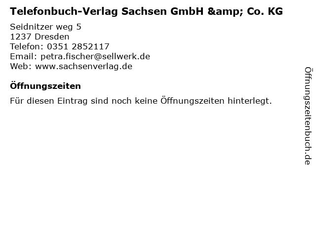 Telefonbuch-Verlag Sachsen GmbH & Co. KG in Dresden: Adresse und Öffnungszeiten