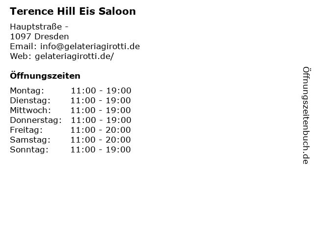 Terence Hill Eis Saloon in Dresden: Adresse und Öffnungszeiten