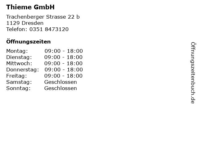 Thieme GmbH in Dresden: Adresse und Öffnungszeiten