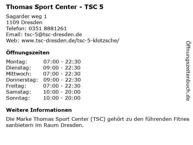 Thomas Sport Center GmbH in Dresden: Adresse und Öffnungszeiten