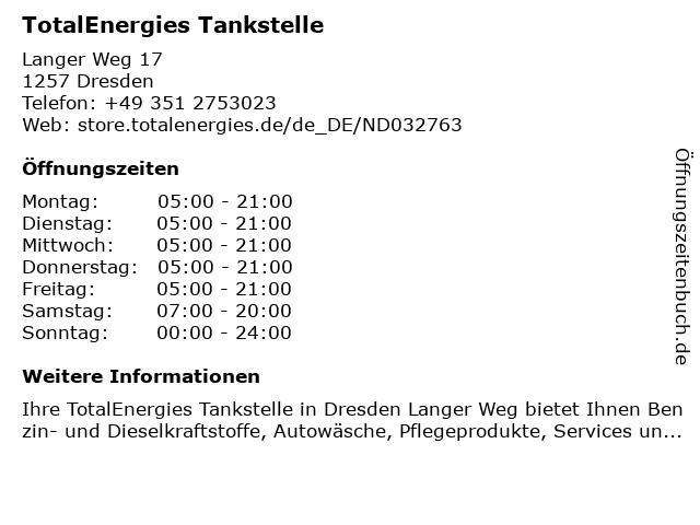 TotalEnergies Tankstelle in Dresden: Adresse und Öffnungszeiten
