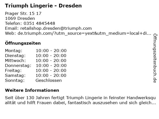 Triumph in Dresden: Adresse und Öffnungszeiten