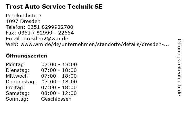 Trost Auto Service Technik SE in Dresden: Adresse und Öffnungszeiten