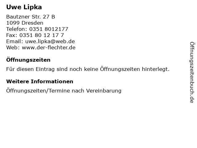 Uwe Lipka in Dresden: Adresse und Öffnungszeiten