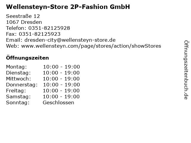 Wellensteyn-Store Dresden 2P-Fashion GmbH in Dresden: Adresse und Öffnungszeiten