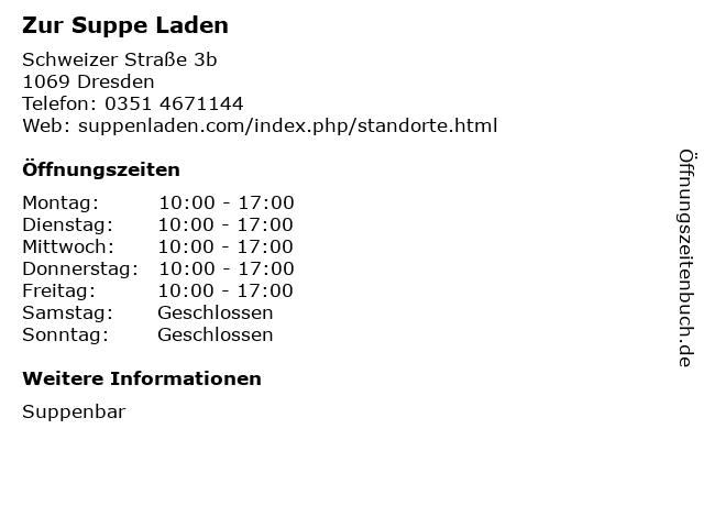Zur Suppe Laden in Dresden: Adresse und Öffnungszeiten