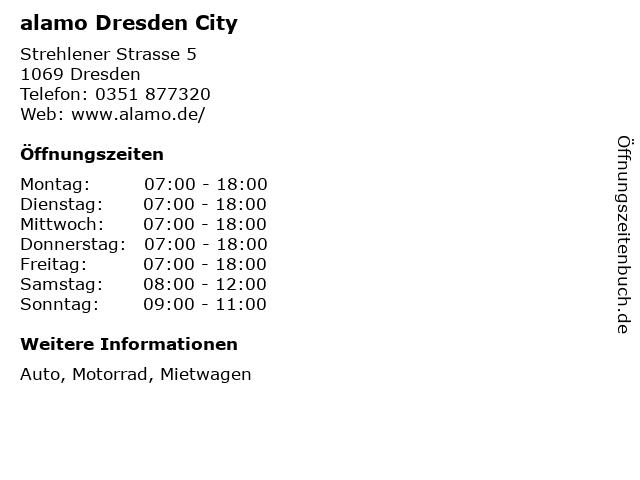alamo Dresden City in Dresden: Adresse und Öffnungszeiten