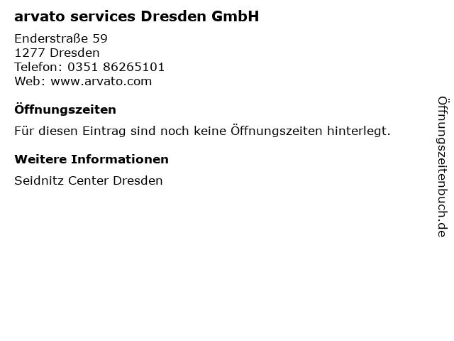 arvato services Dresden GmbH in Dresden: Adresse und Öffnungszeiten