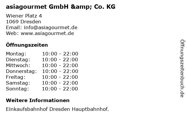 asiagourmet GmbH & Co. KG in Dresden: Adresse und Öffnungszeiten