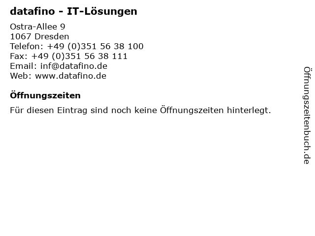 datafino - IT-Lösungen in Dresden: Adresse und Öffnungszeiten