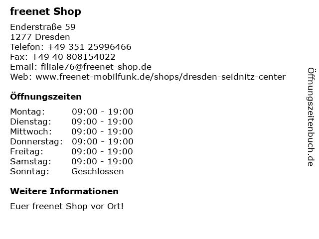 mobilcom-debitel in Dresden: Adresse und Öffnungszeiten