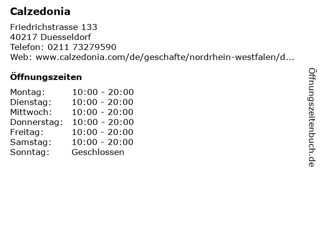 Calzedonia in Dsseldorf: Adresse und Öffnungszeiten