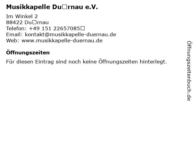 Musikkapelle Dürnau e.V. in Dürnau: Adresse und Öffnungszeiten