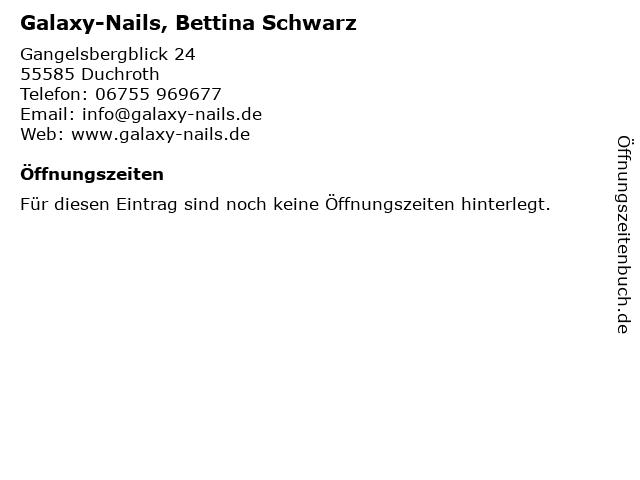 Galaxy-Nails, Bettina Schwarz in Duchroth: Adresse und Öffnungszeiten