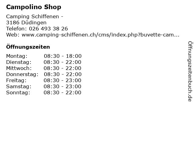 Campolino Shop in Düdingen: Adresse und Öffnungszeiten