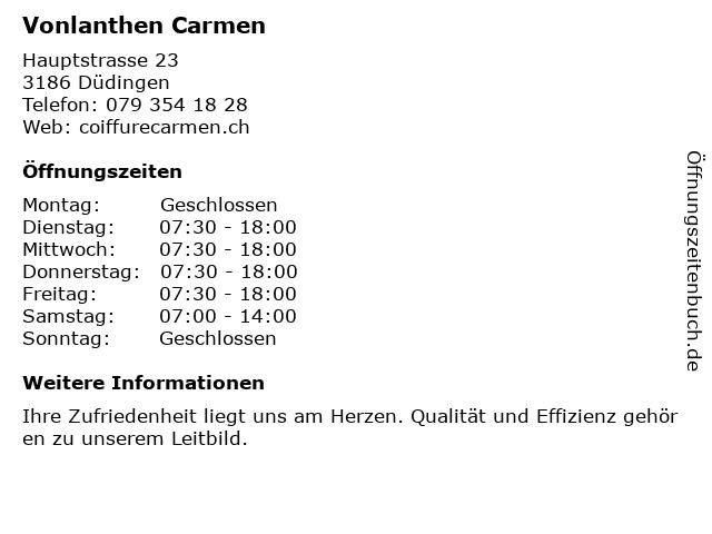 Carmen Vonlanthen in Düdingen: Adresse und Öffnungszeiten