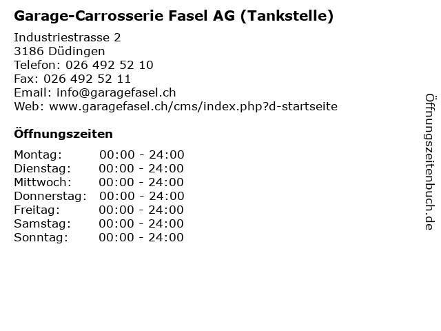 Garage-Carrosserie Fasel AG (Tankstelle) in Düdingen: Adresse und Öffnungszeiten