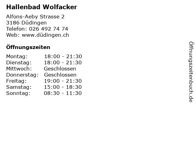 Hallenbad Wolfacker in Düdingen: Adresse und Öffnungszeiten