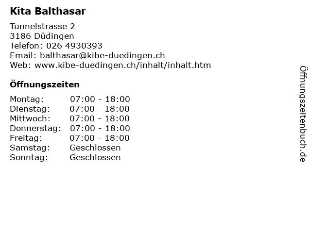Kita Balthasar in Düdingen: Adresse und Öffnungszeiten