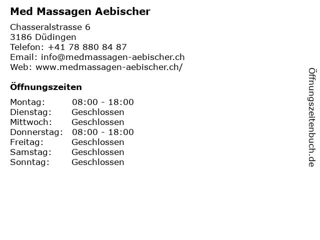 Med Massagen Aebischer in Düdingen: Adresse und Öffnungszeiten