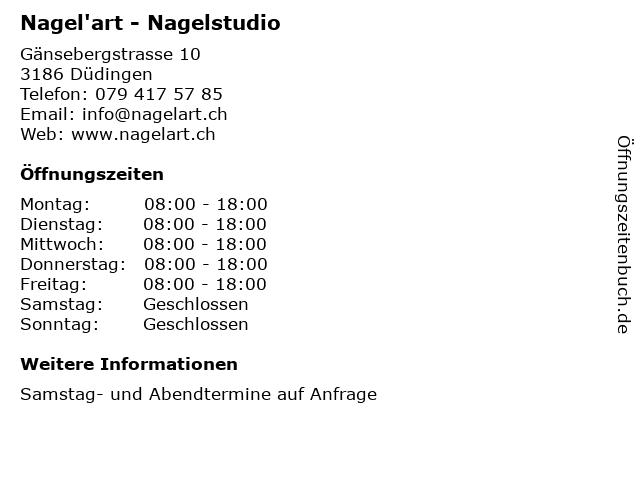 Nagel'art - Nagelstudio in Düdingen: Adresse und Öffnungszeiten