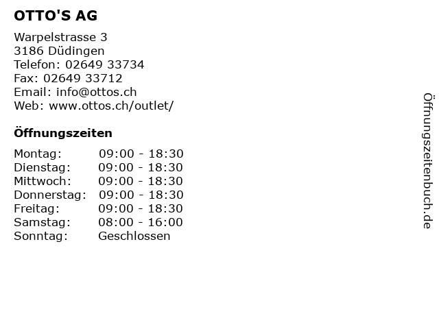 OTTO'S AG in Düdingen: Adresse und Öffnungszeiten