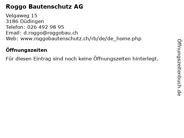 Roggo Bautenschutz AG in Düdingen: Adresse und Öffnungszeiten