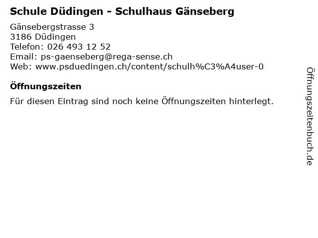 Schule Düdingen - Schulhaus Gänseberg in Düdingen: Adresse und Öffnungszeiten