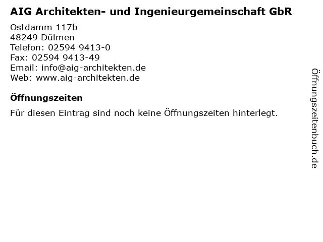 AIG Architekten- und Ingenieurgemeinschaft GbR in Dülmen: Adresse und Öffnungszeiten