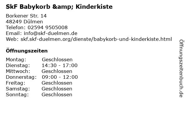 SkF Babykorb & Kinderkiste in Dülmen: Adresse und Öffnungszeiten