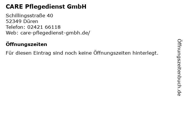 CARE Pflegedienst GmbH in Düren: Adresse und Öffnungszeiten
