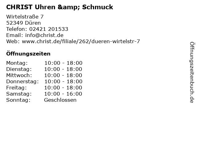 CHRIST Uhren & Schmuck in Düren: Adresse und Öffnungszeiten