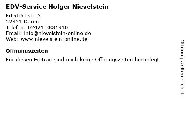 EDV-Service Holger Nievelstein in Düren: Adresse und Öffnungszeiten