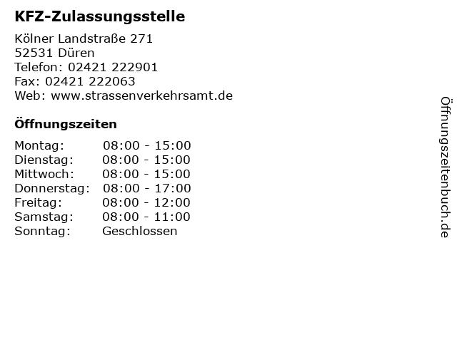 ᐅ öffnungszeiten Kfz Zulassungsstelle Kölner Landstraße 271 In