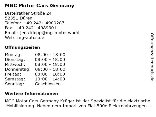 Mgc motor germany cars krüger