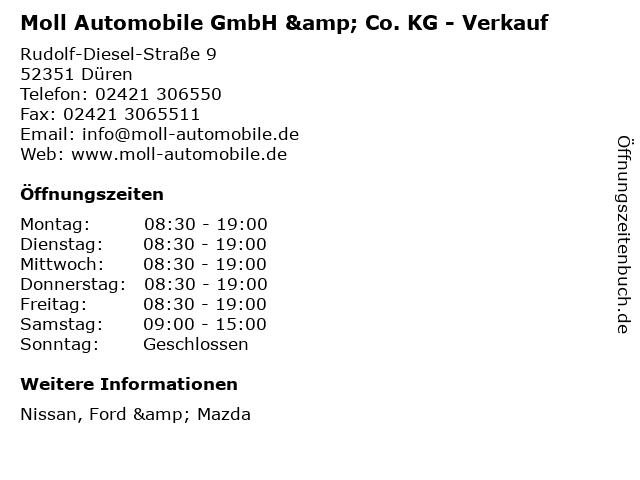 Moll Automobile GmbH & Co. KG - Verkauf in Düren: Adresse und Öffnungszeiten