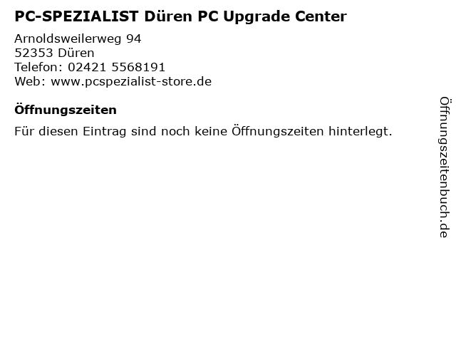 PC-SPEZIALIST Düren PC Upgrade Center in Düren: Adresse und Öffnungszeiten