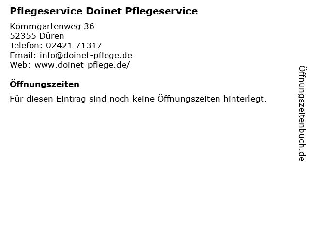 Pflegeservice Doinet Pflegeservice in Düren: Adresse und Öffnungszeiten