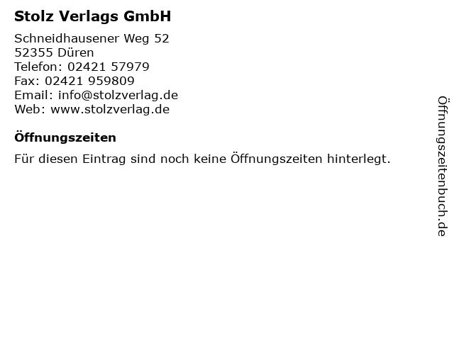 Stolz Verlags GmbH in Düren: Adresse und Öffnungszeiten