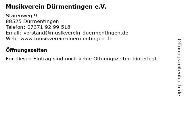 Musikverein Dürmentingen e.V. in Dürmentingen: Adresse und Öffnungszeiten