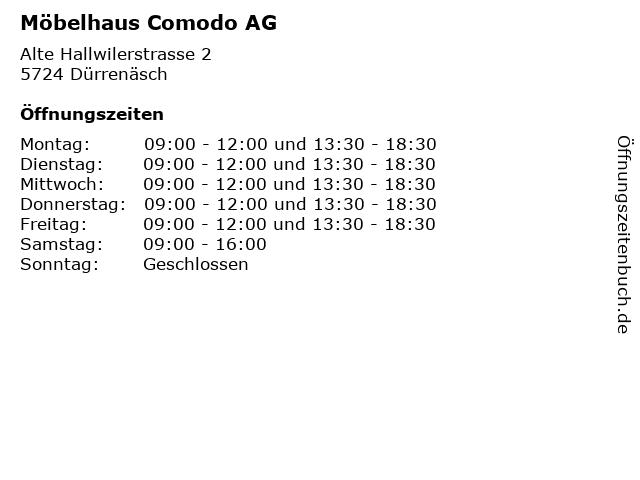 ᐅ öffnungszeiten Möbelhaus Comodo Ag Alte Hallwilerstrasse 2 In